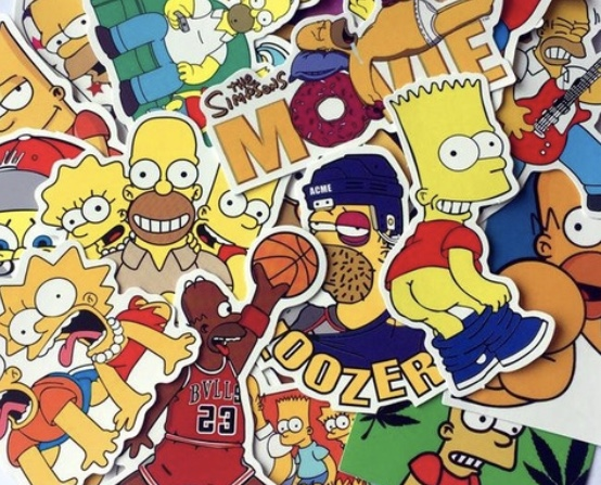 More Simpsons Stickers! 4 groups, check em out!