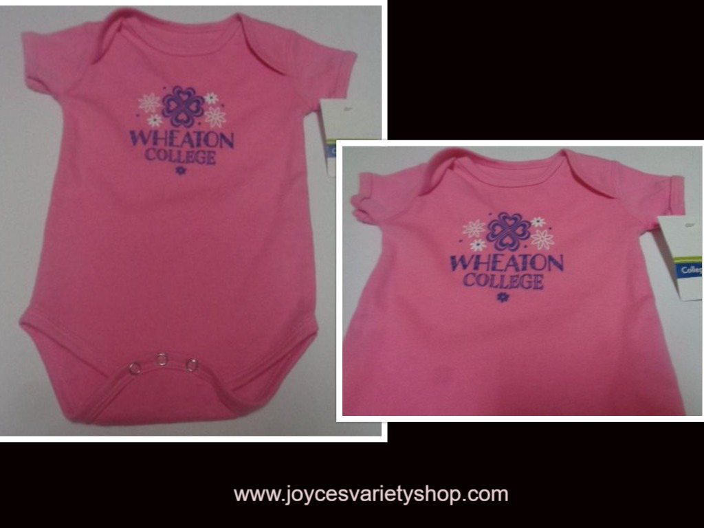 Girl's Wheaton College IL 1 Piece Infant Outfit NWT Sz 6 months Pink