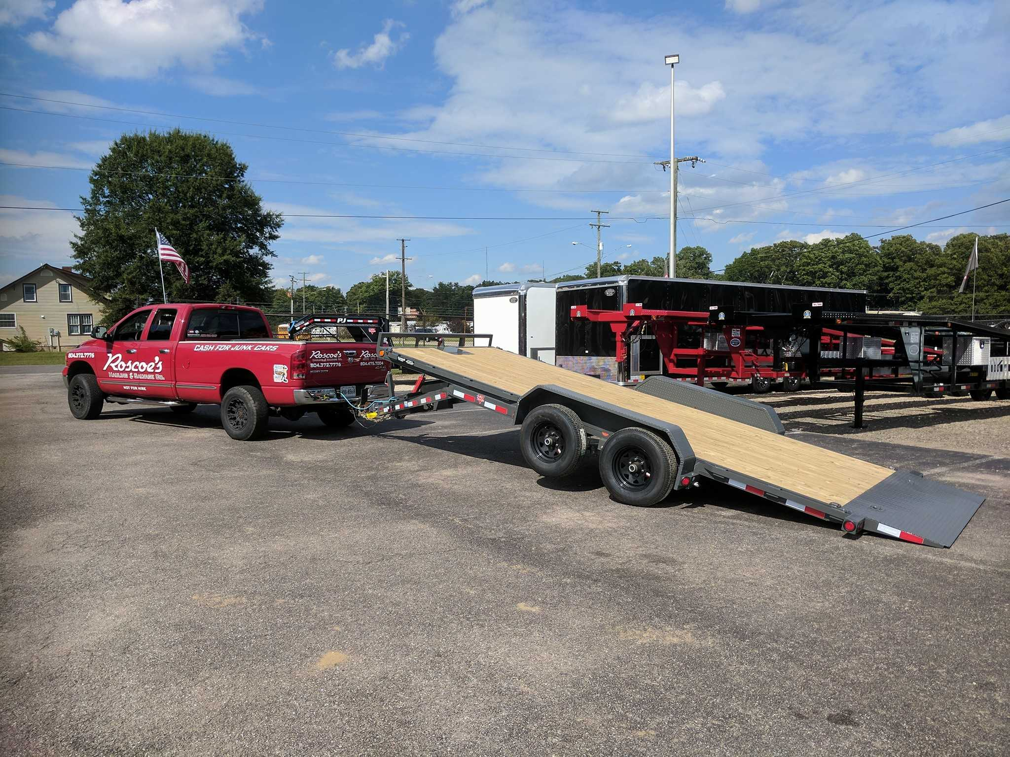 our latest custom ordered trailer perfect for junk car removal